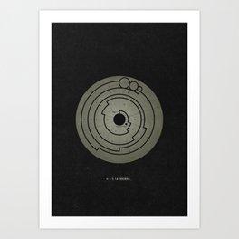 Barbury Castle Crop Circle Art Print
