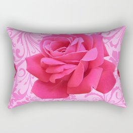 BEAUTIFUL  PINK ROSE SCROLLS GARDEN ART Rectangular Pillow