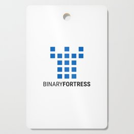 Binary Fortress Software (blue logo) Cutting Board