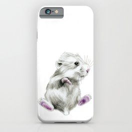 Sweet hamster iPhone Case