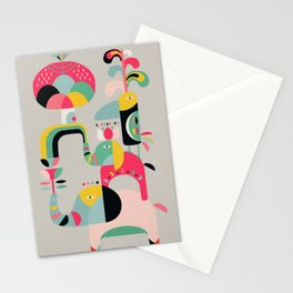 Jungle of elephants Stationery Cards