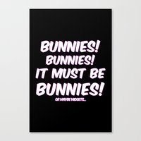bunnies Canvas Prints featuring Bunnies by Nana Leonti