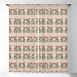 Vintage rabbits pattern Blackout Curtain