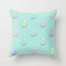 Squidz Throw Pillow