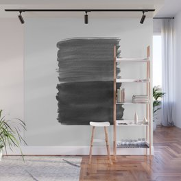 Black Abstract Minimalism #1 #minimal #ink #decor #art #society6 Wall Mural