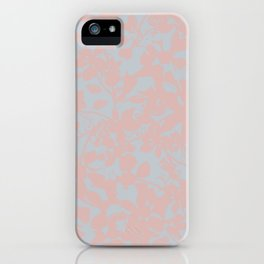 Soft Pink & Gray Floral Silhouette Pattern - Broken but Flourishing iPhone Case