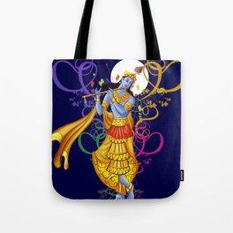 Divine Music with Krishna Tote Bag