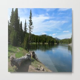 Serene Yellowstone River Metal Print