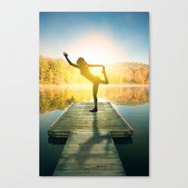 Yoga on the Lake Canvas Print