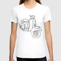 vespa T-shirts featuring Vespa by tuditees