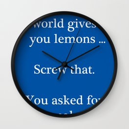 Bitter Response Wall Clock