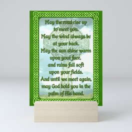 Green Irish Blessing Mini Art Print
