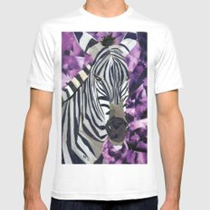 Zebra! Mens Fitted Tee White MEDIUM