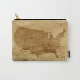 United States USA Vintage Map Carry-All Pouch