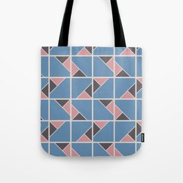 Retro Geometry surface pattern (Pink-blue) Tote Bag