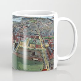 BOSTON MASSACHUSETTS city old map Coffee Mug