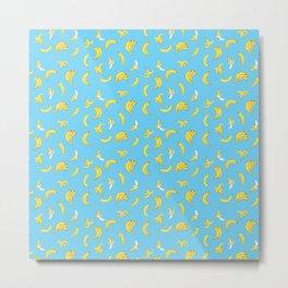 Bananarama in Blue Metal Print