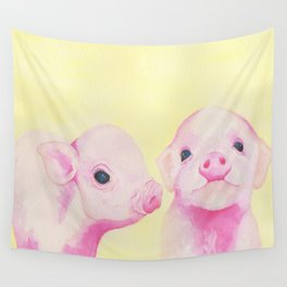 Baby Piglets Wall Tapestry