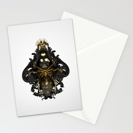 Black stress Stationery Cards