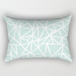 Ab Outline Thick Mint Rectangular Pillow