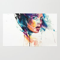 agnes cecile Area & Throw Rugs featuring sheets of colored glass by agnes-cecile
