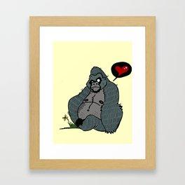 Gorilla Love 2 Framed Art Print