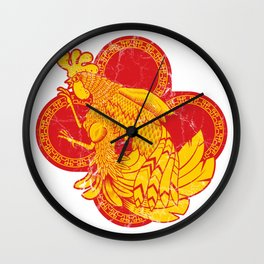 Rooter Red Wall Clock