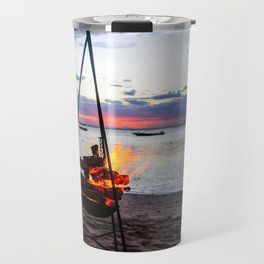 Beach Fire Travel Mug