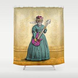 Tessy Tigress Shreds a Solo . . . Grrrrrr! Shower Curtain