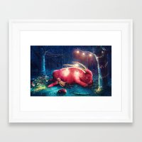 wild things Framed Art Prints featuring WILD THINGS by Ryan Laing