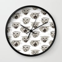 fear and loathing Wall Clocks featuring Fear and Loathing by Emily Firth