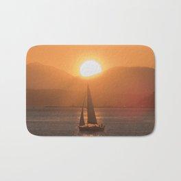 Sail under the Sun Salish Sea Bath Mat