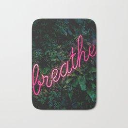 Breathe, Neon, Pink Neaon Bath Mat