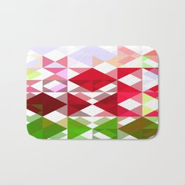 Red Rose Edges Abstract Triangles 1 Bath Mat