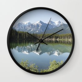 Reflections in Jasper National Park Wall Clock