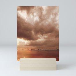 Sunset Storm Mini Art Print