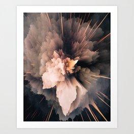 Abstract Color Burst Art Print