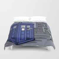 hallion Duvet Covers featuring PaperWho by Karen Hallion Illustrations