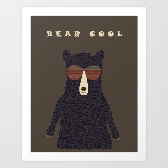 bear cool Art Print