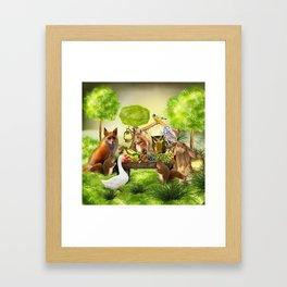 Sommerfest der Tiere Framed Art Print