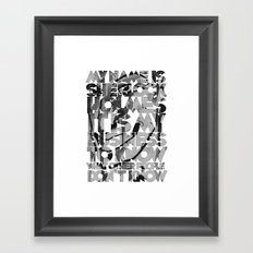 Sherlock Holmes Quote Framed Art Print