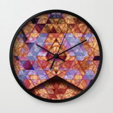 Triangles at Night Wall Clock