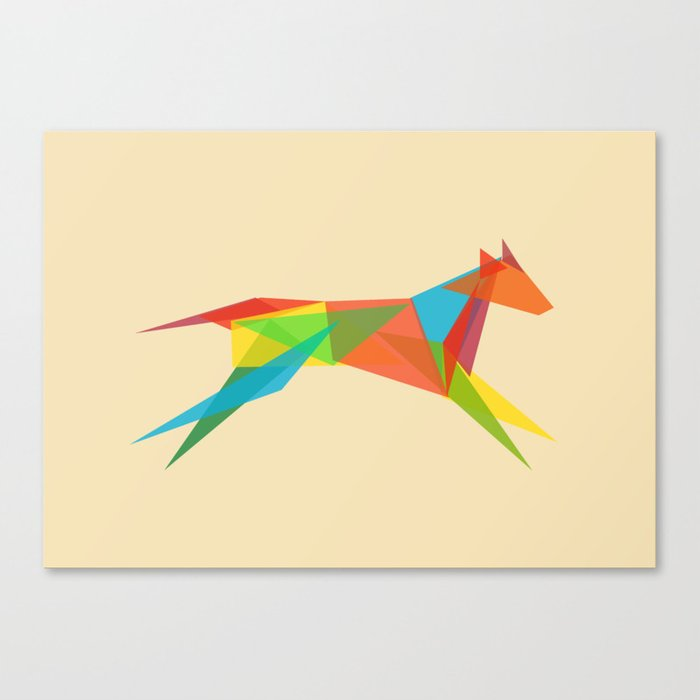 Fractal Geometric Dog Canvas Print