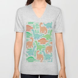 Dinosaur party Unisex V-Neck