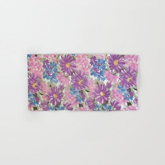 Floral pastel pattern Hand & Bath Towel