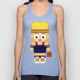 Basketball Burgundy, Navy Blue and Gold Unisex Tank Top