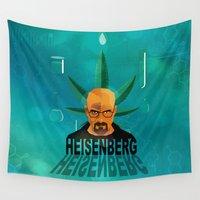 heisenberg Wall Tapestries featuring HEISENBERG by Tony Vazquez