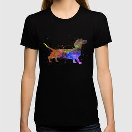 Short Haired Dachshund 01 in watercolor T-shirt