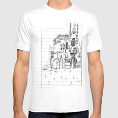 Childhood Drawings (Cathedral) MEDIUM Mens Fitted Tee White