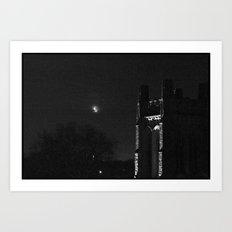 Moon and Tower Art Print